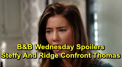 The Bold and the Beautiful Spoilers: Wednesday, December 4 - Steffy & Ridge Confront Thomas About Custody Decision - Lope Celebrate Thanksgiving With Beth