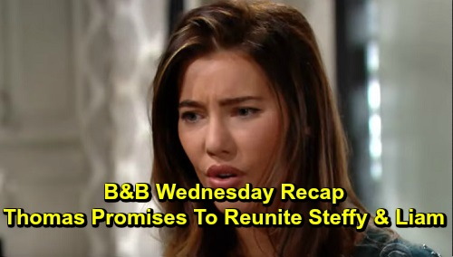 The Bold and the Beautiful Spoilers: Wednesday, December 4 Recap - Thomas Promises Steffy That Liam Will Be Hers Again - Lope's Nice Family Moments