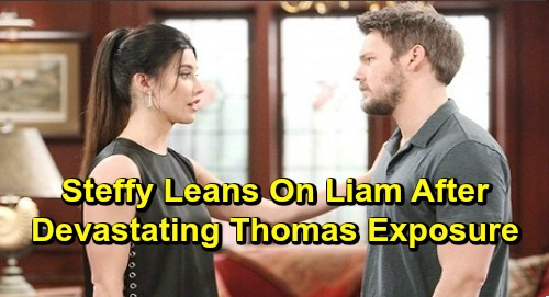 The Bold and the Beautiful Spoilers: Steffy Leans On Liam After Devastating Thomas Exposure – Fears for Sick Brother, Liam Steps Up?