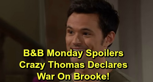 The Bold and the Beautiful Spoilers: Monday, September 30 - Thomas Declares War On Brooke & Logans - Shauna Vows Support To Ridge