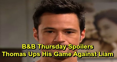 "The Bold and the Beautiful Spoilers: Thursday, December 5 - Thomas Ups His Game Against Liam - Steffy Confronts Hope About Thomas' ""Death"""