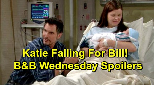 The Bold and the Beautiful Spoilers: Wednesday, February 27 - Katie's Falling For Bill - Wally Announce Move To Spencer