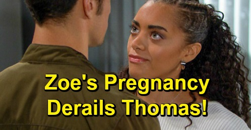 The Bold and the Beautiful Spoilers: Zoe's Pregnancy Derails Thomas' Plans – Hope Future in Jeopardy Over Baby Bomb?
