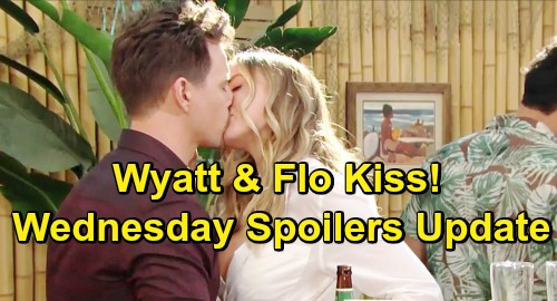 The Bold and the Beautiful Spoilers: Wednesday, March 6 Update – Flo Kisses Old Flame Wyatt – Hope Faces Liam's Birth Mom Warning