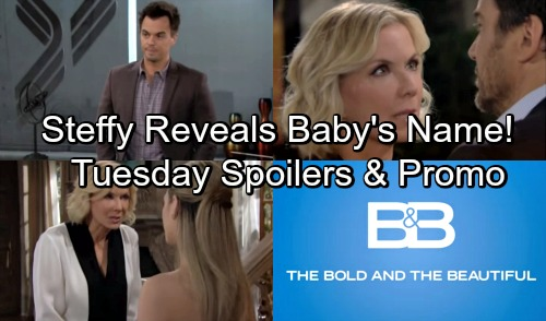 The Bold and the Beautiful Spoilers: Tuesday, May 22 – Steffy Reveals Baby's Name to Liam – Brooke Battles Ridge Over Lope Wedding
