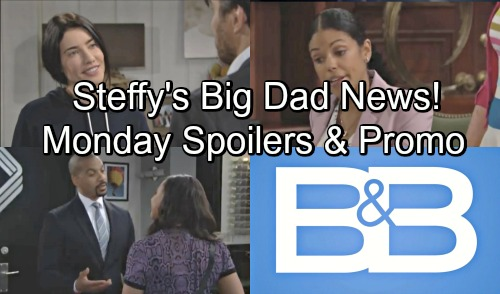 The Bold and the Beautiful Spoilers: Monday, June 11 – Justin and Emma's Secret Connection – Steffy Has Big News for Ridge