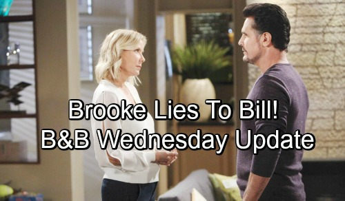 The Bold and the Beautiful Spoilers: Wednesday, November 7 Update – Brooke Hides The Truth From Bill, Protects Criminal Ridge