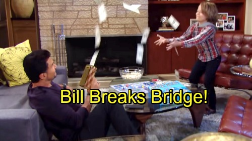 The Bold and the Beautiful Spoilers: Bill Breaks Bridge - Corners Brooke About Custody Case