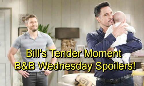 The Bold and the Beautiful Spoilers: Wednesday, October 3 - Bill and Kelly Share Tender Moment - Emma Seethes With Jealousy