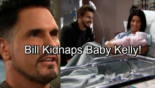 The Bold and the Beautiful Spoilers: Bill Snaps and Kidnaps Kelly – Refuses to Let Liam Live His Dream with Steffy