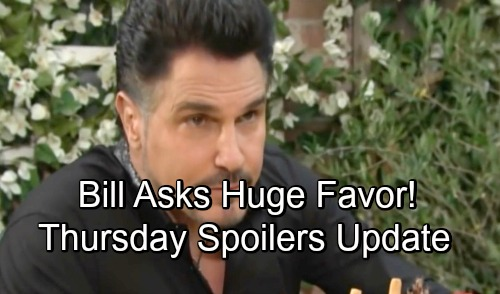 The Bold and the Beautiful Spoilers: Thursday, September 6 Update - Bill Asks Katie For A Big Favor - Hope Worries About Steffy