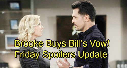 The Bold and the Beautiful Spoilers: Friday, November 16 Update – Ridge Sees Through Bill's Act – Brooke Moved by Bill's Vow