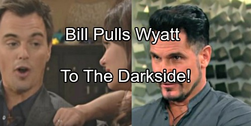 The Bold and the Beautiful Spoilers: Bill Pulls Wyatt to the Dark Side – Katie Fearful, Wyatt Must Choose Love or Loyalty