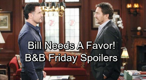 The Bold and the Beautiful Spoilers: Friday, October 5 - Brooke Chats Up The Judge - Ridge Scoffs At Bill's Request For A Favor
