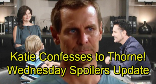 The Bold and the Beautiful Spoilers: Wednesday, October 17 Update – Hope Blasts Brooke for Her Betrayal – Katie's Confession Stuns Thorne