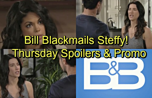 The Bold and the Beautiful Spoilers: Thursday, June 21 – Blackmailer Bill Tightens Grip on Steffy – Maya Gives Xander a Warning