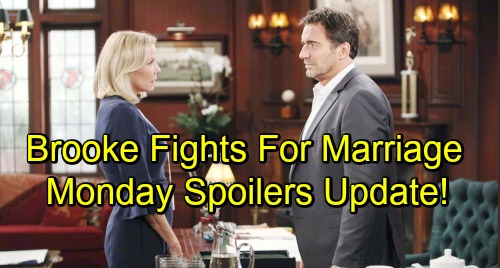 The Bold and the Beautiful Spoilers: Monday, October 15 – Bill's Stunned by Katie's Generosity – Brooke Fights to Save Marriage