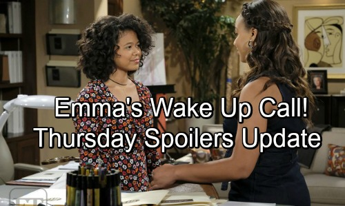 The Bold and the Beautiful Spoilers: Thursday, October 4 - Sally and Wyatt Celebrate - Emma Gets Some Needed Advice