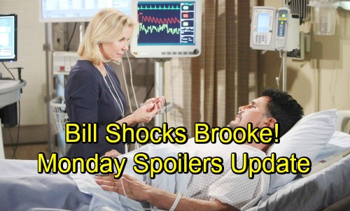 The Bold and the Beautiful Spoilers: Monday, October 29 Update - Bill Gives Brooke His Sword - Quinn Won't Back Down