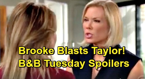The Bold and the Beautiful Spoilers: Tuesday, December 4 - Pam and Donna Wants Quinn Gone - Brooke Tells Taylor Off
