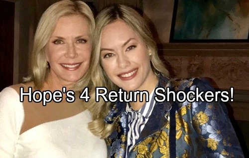 The Bold and the Beautiful Spoilers: Huge Comeback Shockers – 4 Ways Hope Will Shake B&B Up