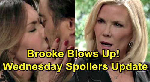 The Bold and the Beautiful Spoilers: Wednesday, March 20 Update – Brooke Fumes Over Taylor's Move – Love Blooms for Batie