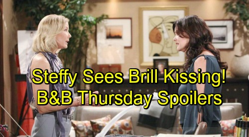 The Bold and the Beautiful Spoilers: Thursday, October 11 - Steffy Sees Brooke and Bill Kissing - Katie Stunned By Judge Tampering
