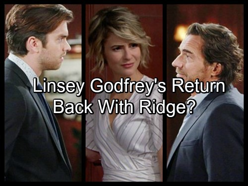 The Bold and The Beautiful Spoilers: Linsey Godfrey Leaks B&B Return - Back with Ridge After Brooke Breakup?