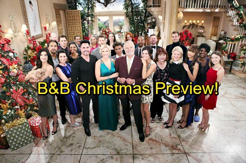 The Bold and the Beautiful Spoilers: B&B Christmas Preview – Holiday Celebration Full of Shockers, Returns and Traditions