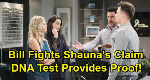 The Bold and the Beautiful Spoilers: Bill Fights Shauna's Claim – Flo Not His Child, DNA Test Provides Proof?
