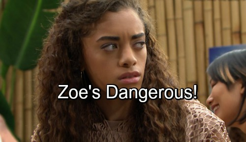 The Bold and the Beautiful Spoilers: Twisted Zoe Anonymously Attacks Multiple Victims – Sally Among the Wronged