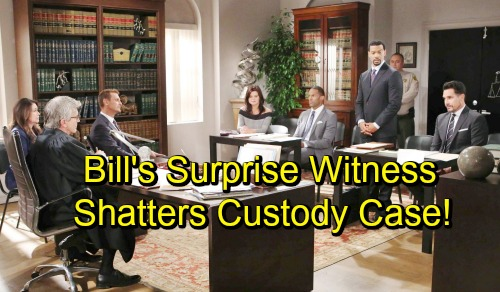The Bold and the Beautiful Spoilers: Bill's Surprise Witness Shatters Custody Case - Four Big Possibilities