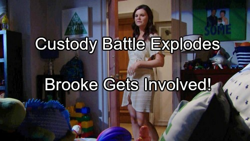 'The Bold and the Beautiful' Spoilers: Brooke Interferes Again - Bill and Katie's Custody Battle Goes Ballistic