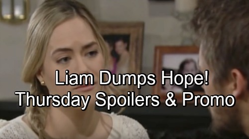 The Bold and the Beautiful Spoilers: Thursday, June 7 – Liam Dumps Hope, Chooses Steffy – Brooke Set Up for Disappointment