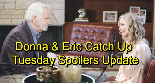 The Bold and the Beautiful Spoilers: Tuesday, October 30 Update - Bill and Ridge Sling Accusations - Donna Shocks Eric
