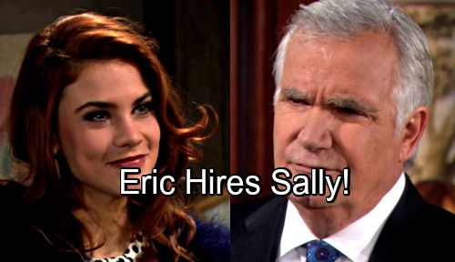 The Bold and the Beautiful Spoilers: Eric Sparks Forrester Chaos, Offers a Job to Sally the Thief – Second Chance Brings Backlash
