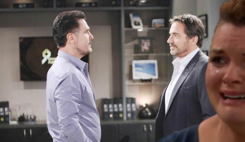 The Bold and the Beautiful Spoilers: Bill Angrily Confronts Katie - Ridge Intervenes, Faces Off With Bill