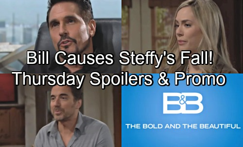 The Bold and the Beautiful Spoilers: Thursday, May 31 – Steffy's Terrifying Tumble Brings Danger for Baby – Bill Causes Tragedy