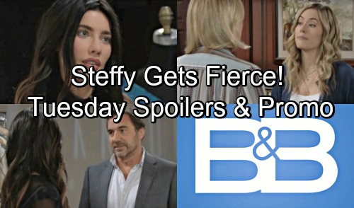 The Bold and the Beautiful Spoilers: Tuesday, September 11 – Steffy Gets Fierce in Fashion Show Test Run – Hope Licks Her Wounds