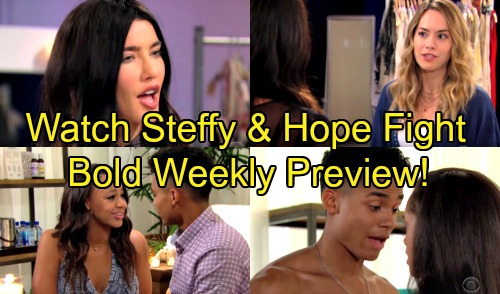 The Bold and the Beautiful Spoilers: Hot Promo Week of September 10 – Steffy and Hope's Big Fight – Zoe Tempts Thirsty Xander