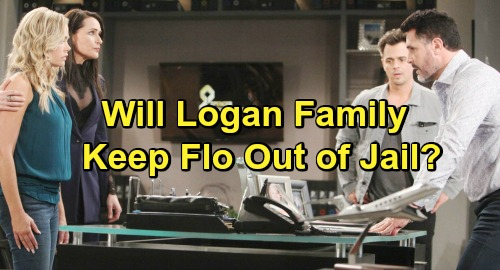 The Bold and the Beautiful Spoilers: Flo Stunned By Storm Logan Paternity Tie – Will Family Influence Keep Her Out of Jail?