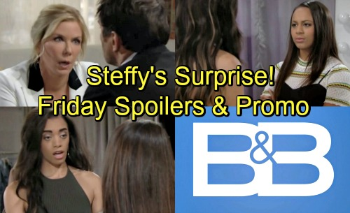 The Bold and the Beautiful Spoilers: Friday, August 10 – Steffy's Surprise – Ridge and Brooke Make Peace – Zoe and Emma's Feud Heats Up