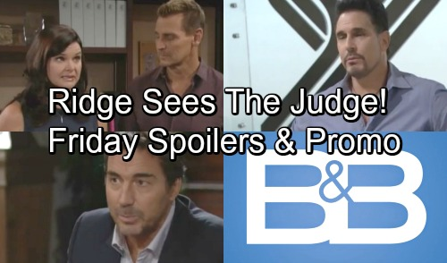 The Bold and the Beautiful Spoilers: Friday, September 21 – Judge McMullen Feels Ridge's Pressure – Katie's Fierce Side Comes Out