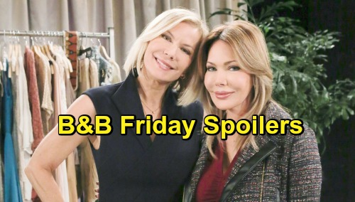 The Bold and the Beautiful Spoilers: Friday, December 7 - Brooke and Ridge Bicker - Taylor and Reese Hit It Off