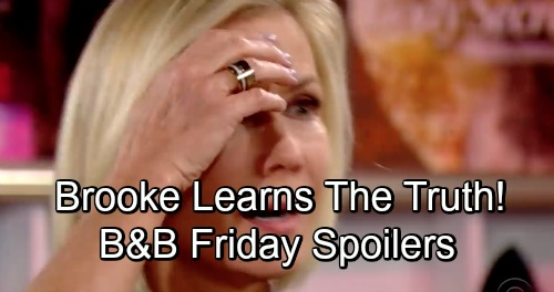 The Bold and the Beautiful Spoilers: Friday, November 30 - Hope Spills The Truth About Bill's Shooting To Brooke - Zoe's Dad Arrives