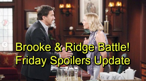 The Bold and the Beautiful Spoilers: Friday, October 12 – Quinn's Behavior Concerns Wyatt – Ridge Prepares for Brooke Showdown