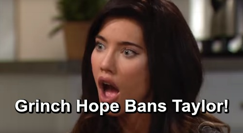 The Bold and the Beautiful Spoilers: Week of December 17 Preview – Grinch Hope Bans Taylor from Christmas – Maya Drops Rick Bomb