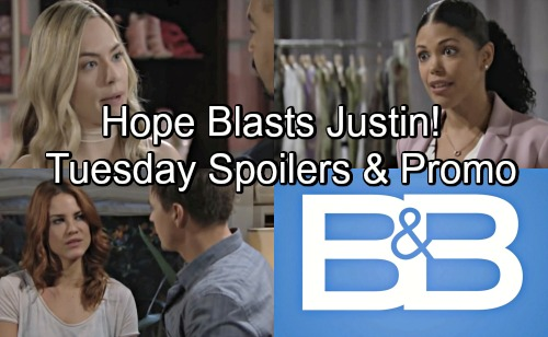The Bold and the Beautiful Spoilers: Tuesday, June 19 – Justin's Warning from Hope, Maya Faces Backlash – Sally's Big Decision
