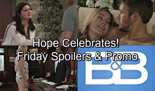 The Bold and the Beautiful Spoilers: Friday, August 24 - Katie Worries About Seeking Full Custody - Hope Celebrates Victory