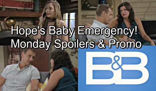 The Bold and the Beautiful Spoilers: Monday, September 3 – Hope Hospitalized, Battles Miscarriage Fears with Liam – Thorne's Promise